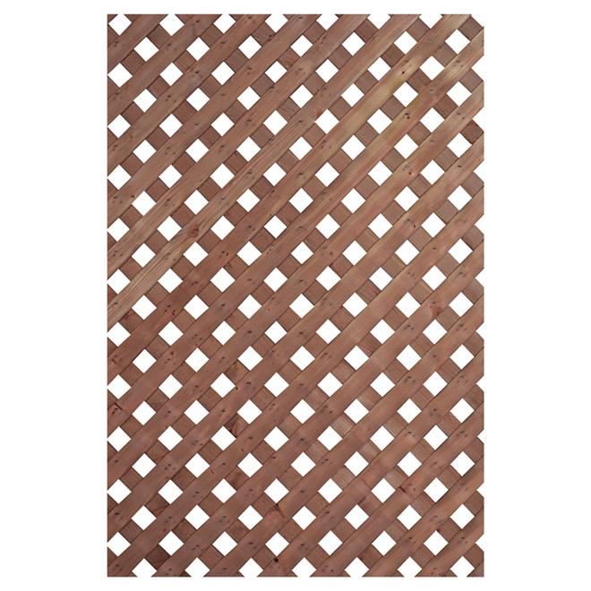Treillis intimité, bois traité, 4 x 8', brun