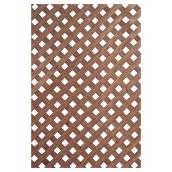 Privacy Lattice -  Treated Wood - 4 x 8' - Brown