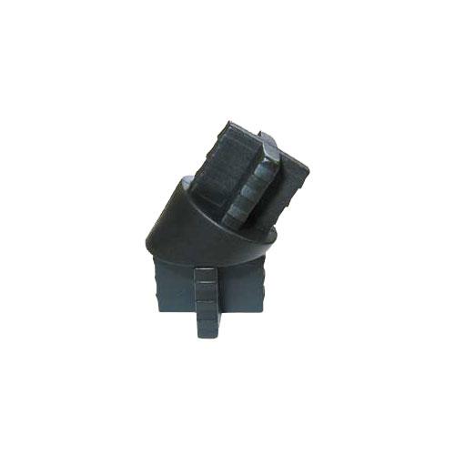 Rail Angle Adapter - Plastic - Black - 10-Pack