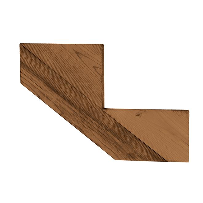 """Treated Wood 2-Step Stair Stringer - 2"""" x 12"""" - Brown"""