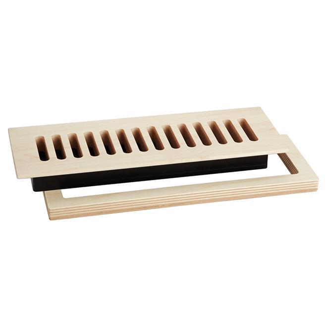 """Registre de plancher encastré, 3"""" x 10"""", érable naturel"""