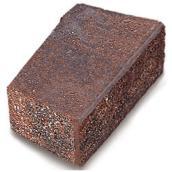 Bloc pour mur « Stackstone » 7,63 po x 7,63 po, rouge/noir