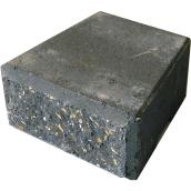 "StackStone Wall Cap 4"" x 8"" - Charcoal"