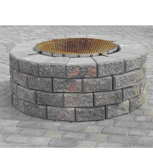 Plan Pour Foyer Extérieur : Foyer en pierres rona