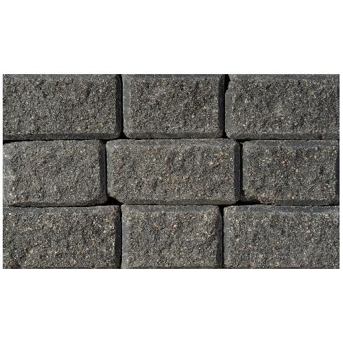 Bloc d'angle pour mur « StackStone/Roman », charbon/havane
