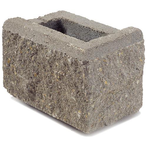 Allan Block Jumbo Retaining Wall Corner - Grey