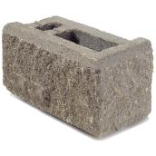Bloc de coin pour muret Allan Block (AB) Expocrete 3°, 16 po, béton, gris