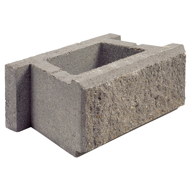 """Allan Block (AB) Classic"" Wall Block - Grey"