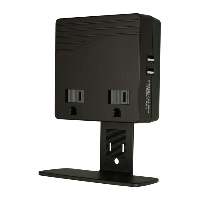 Bloc de recharge 2 prises/2 USB