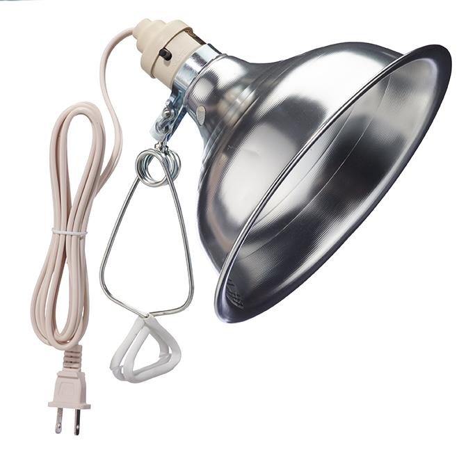 """120 V Incandescent Clamp Lamp - 8.5"""" - Black"""
