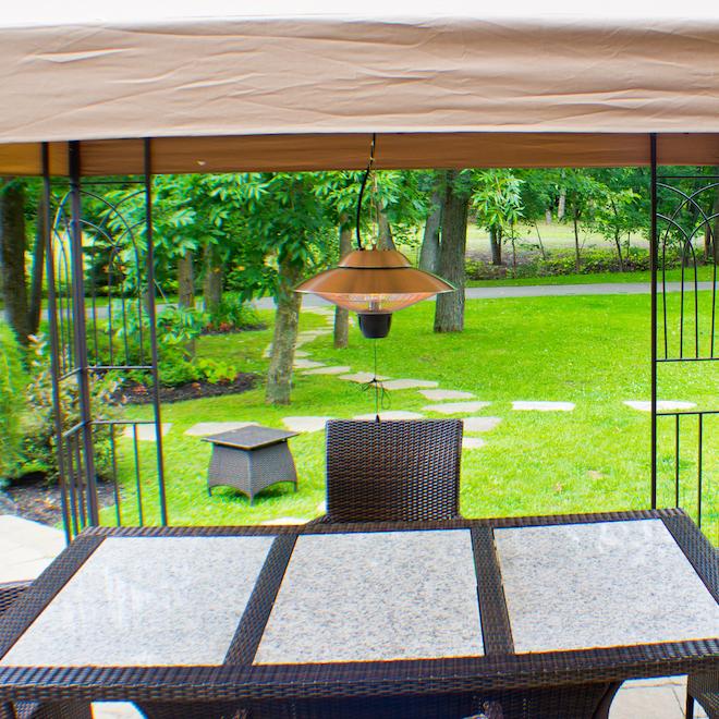"Hanging Infrared Gazebo Heater - 1500 W - 17"" - Aluminum - Silver"