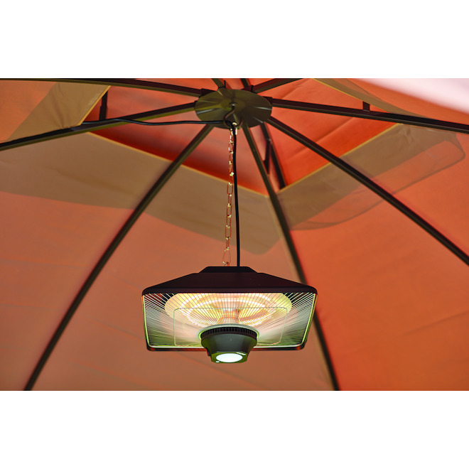 Outdoor Heater Hanging - LED - Square - Black