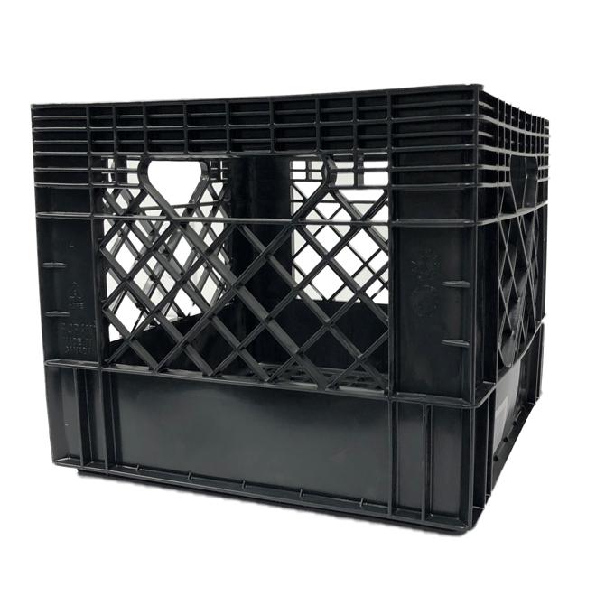 Square Milk Crate - 13'' x 13'' x 11'' - Black