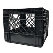 Square Milk Crate - 13'' x 13'' x 11'' - Black