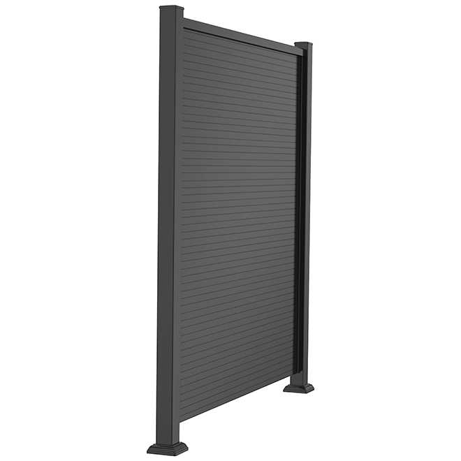 Privacy Panel in Aluminum - 46'' x 61'' - Black