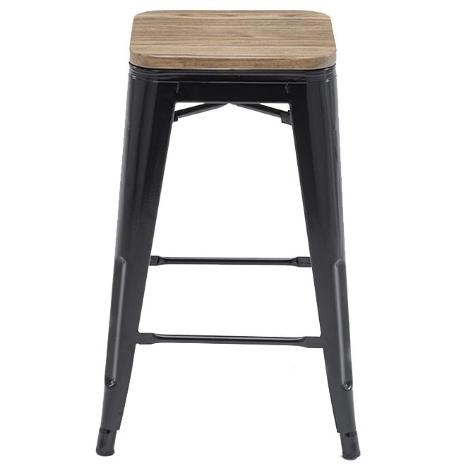 Original Tolex Chair Collection Counter Stools - Satin Black - Set of 2