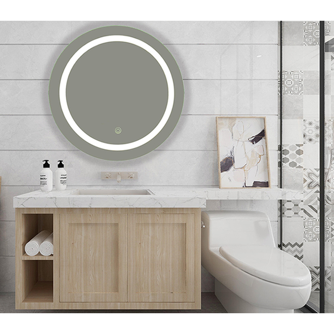Soho LED Mirror - 28-in x 28-in - Clear