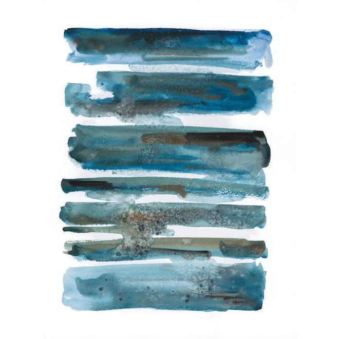 Toile tendue Have You Ever Had It Blue, art mural abstrait, 25 po x 37 po, bleu