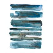 Stretched Canvas - Have You Ever Had It Blue - Abstract Wall Art - 25-in x 37-in - Blue