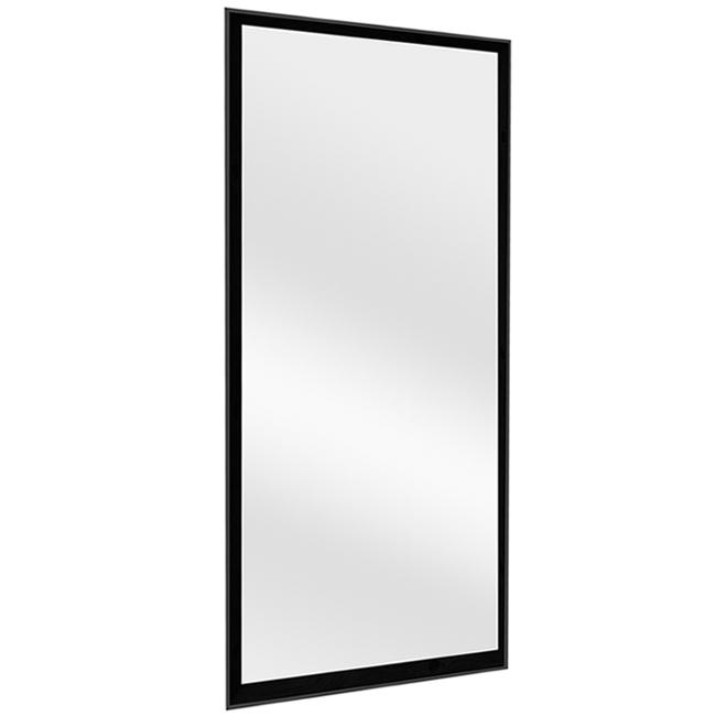 Soho Rectangular Mirror - 26.4-in x 69.4-in - Plastic - Black