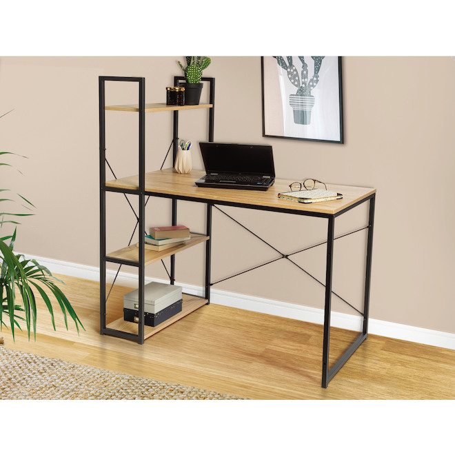 Homeworks Home Office Desk - 44-in x 23-in x 47-in - Black