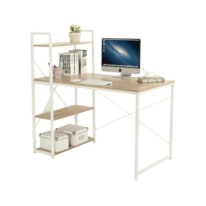 Homeworks Home Office Desk - 44-in x 23-in x 47-in - White