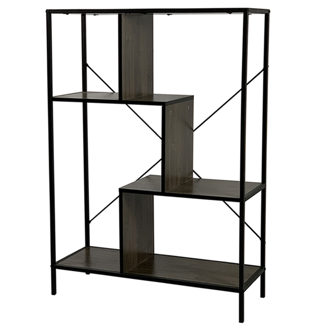 Soho Decorative 4-Tier Shelving Unit - Steel 45-in Black