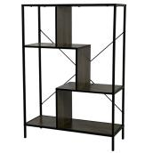 Soho Decorative 4-Tier Shelving Unit - Steel 45-in Black