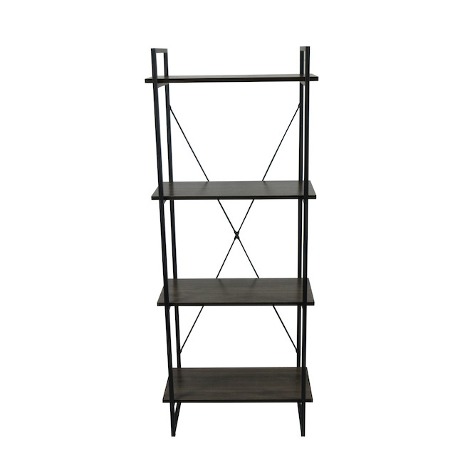 Soho Decorative 4-Tier Shelving Unit - Steel 59-in Black