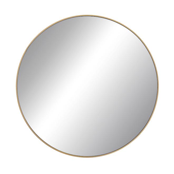 Emerson 27.56-in x 1.2-in Round Dark Gold Metal Mirror