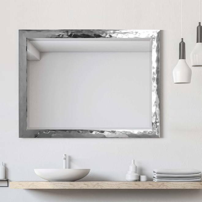 Larson Chrome Builders Mirror 27.5-in x 39.5-in Chrome
