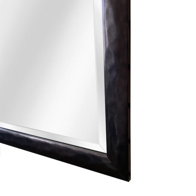 Larson Chrome Builders Mirror 27.5-in x 39.5-in Black