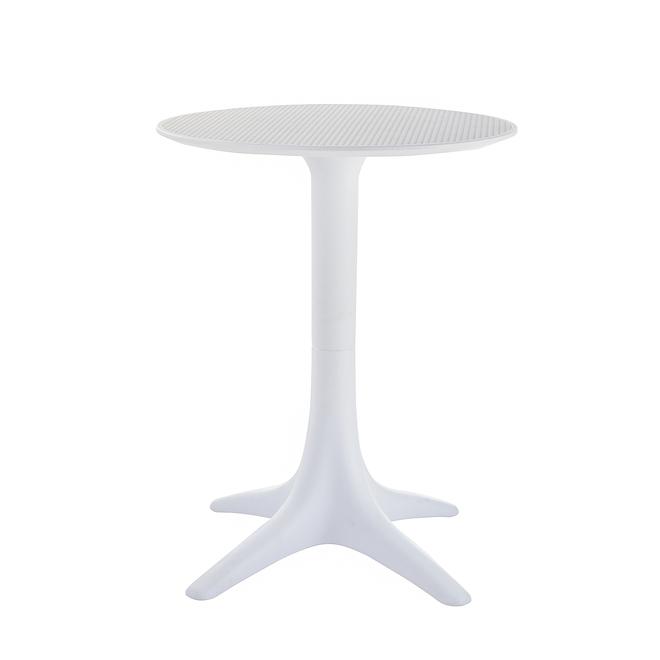 Terrazza White 23.62-in x 29.53-in Bistro Table