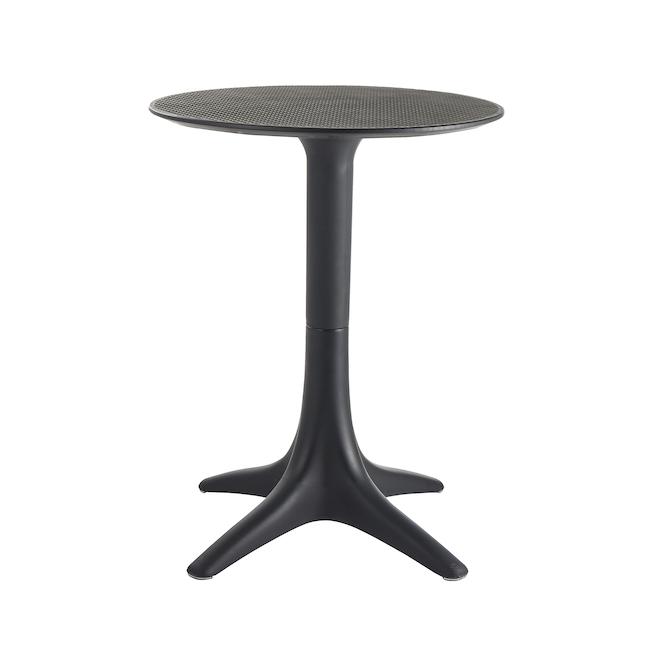 Terrazza Black 23.62-in x 29.53-in Bistro Table