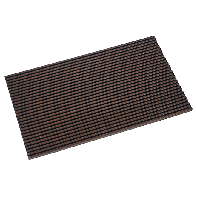 "Entrance Mat - Slat - Rubber - 18"" x 30"" - Brown"
