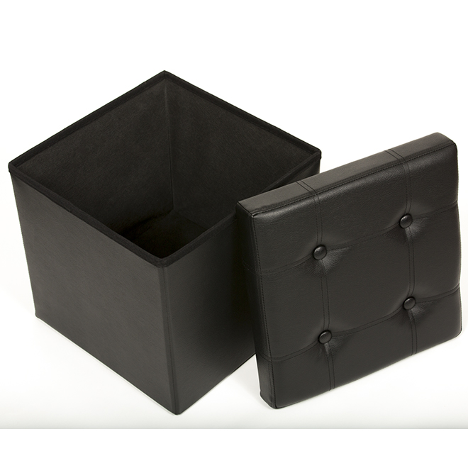 Wondrous Fhe 15 Tufted And Foldable Storage Ottoman Brown 290010 Alphanode Cool Chair Designs And Ideas Alphanodeonline