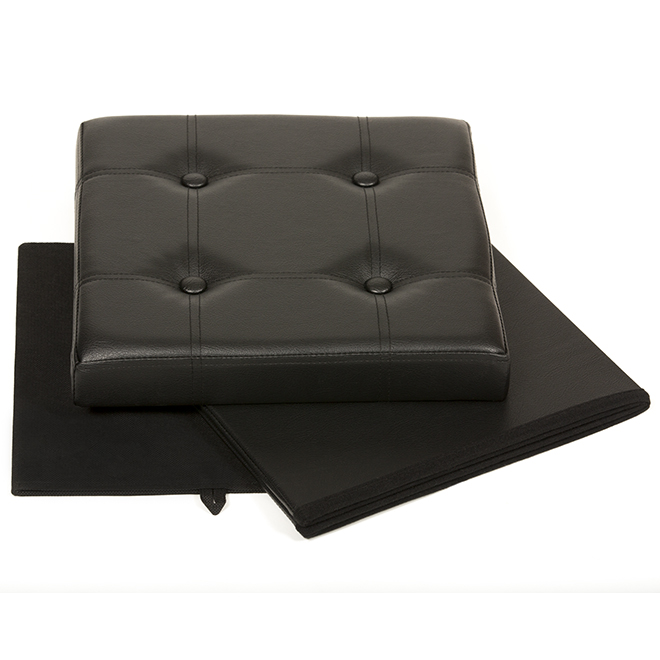 Superb Fhe 15 Tufted And Foldable Storage Ottoman Brown 290010 Alphanode Cool Chair Designs And Ideas Alphanodeonline