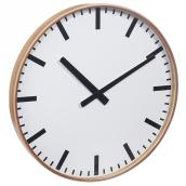 "Wooden Wall Clock - 24"" - Latte"