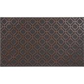 "FHE Moroccan Entrance Mat - 18"" x 30"" - Rubber - Brown and Black"