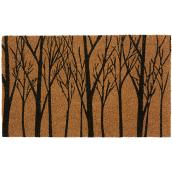 "FHE Entrance Mat - Forest Design - 18"" x 30"" - Natural/Black"