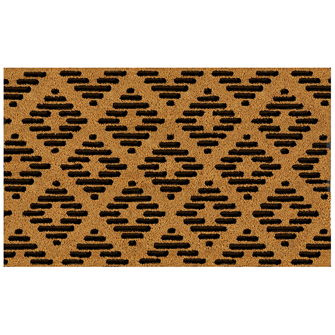 """FHE Entrance Mat - Contemporary - 18"""" x 30"""" - Natural and Black"""