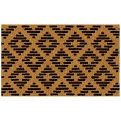 "FHE Entrance Mat - Contemporary - 18"" x 30"" - Natural and Black"