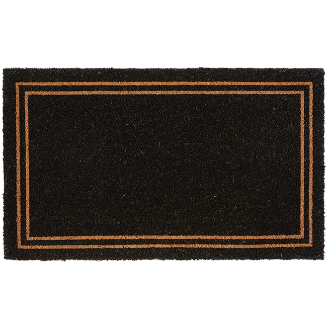 "FHE Entrance Mat - Coir 2 - 18"" x 30"" - Natural and Black"