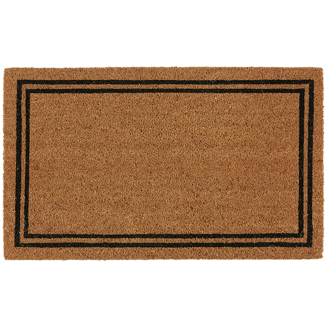 "FHE Entrance Mat - Coir 1 - 18"" x 30"" - Natural and Black"