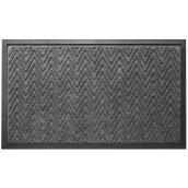 "FHE Entrance Mat - Herringbone - 18"" x 30"" - Grey"