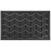"FHE Entrance Mat - Chevron - 18"" x 30"" - Black"