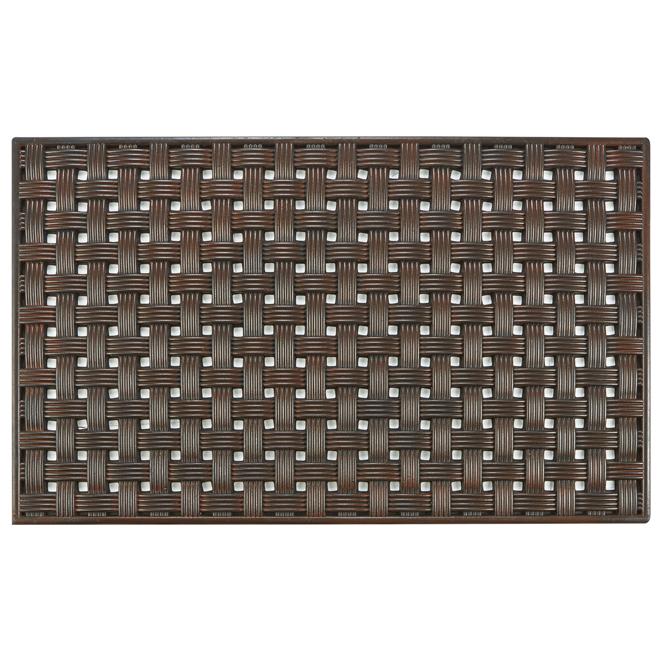 FHE Entrance Mat - Basket Weave - 18'' x 30'' - Brown