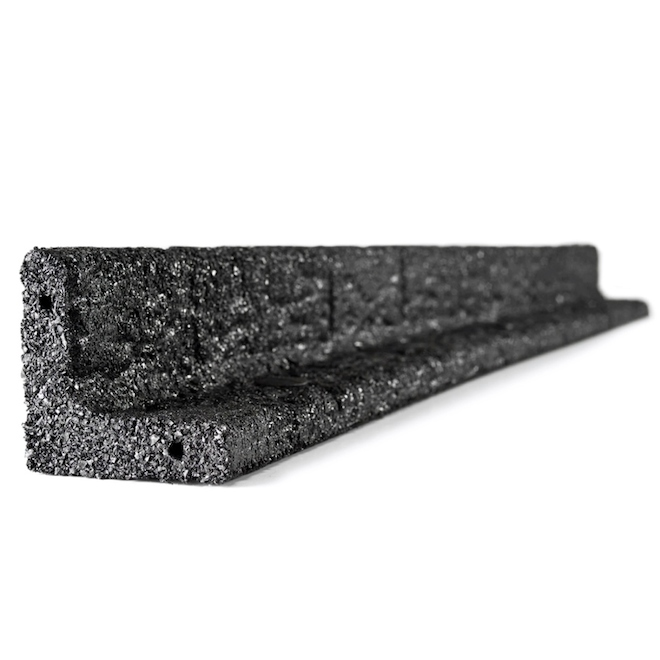 L-Shape Lawn Edging - 4' - Rubber - Black