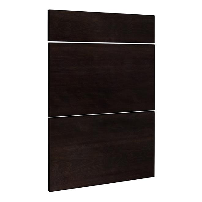 3 Drawer Front For Cabinet Door 24 X 30 Brown Rona