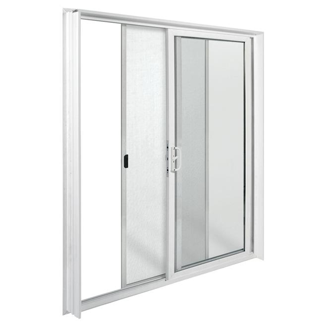 """Porte-fenêtre coulissante en vinyle, 72"""" x 80"""", blanc, droite"""